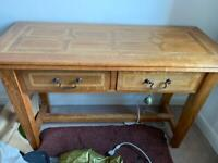 Solid wood console / dressing table