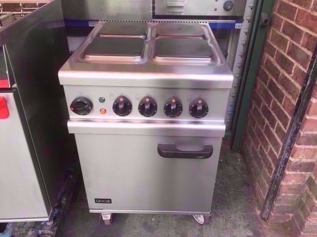 3 PHASE COMMERCIAL ELECTRIC CATERING 4 HOB COOKER + OVEN MACHINE TAKEAWAY RESTAURANT DINER SHOP