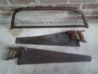 Two Hand Saws & 1 Bow Saw-Proceeds To Local Charity