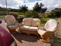 Two swivel chairs and settee