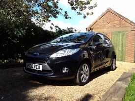 2011 Ford Fiesta 1.25 Zetec in Panther Black.
