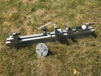 Black & Decker drill powered lathe
