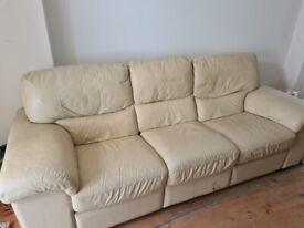 Large 2 seater sofa bed, matching 3 seater