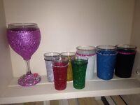 Hand made glitter glasses
