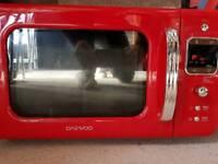 Daewoo red microwave eco