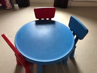 Ikea kids play table and chairs