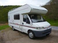 4/6 berth Motorhome £750.00/week. Ask about our standby prices!
