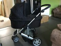 Mamas and Papas travel system in black