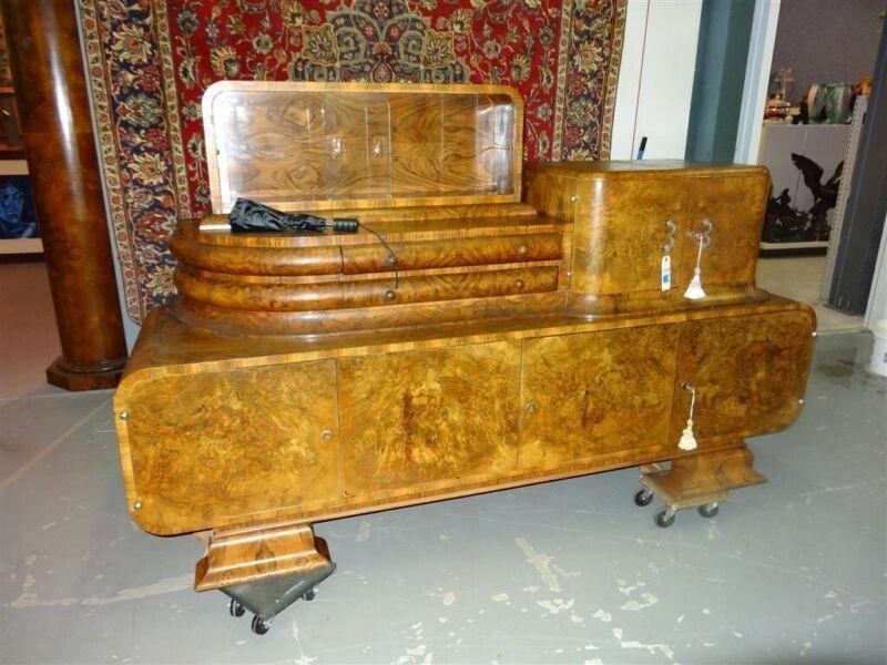 Art Deco Sideboard Burled Walnut