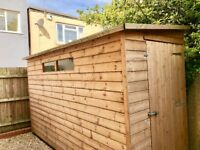 Spacious Garden Shed for sale - 2.5 years old - made from durable wood and easy to assemble