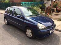 Renault Clio reg:2002 1.1 petrol