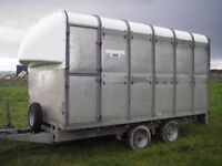 Ifor Williams sheep cattle trailer