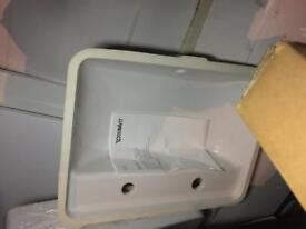 Undercount sink new £30 duravit two tap holes brand new