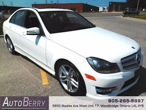 2013 Mercedes-Benz C-Class 4MATIC **ACCIDENT FREE CERTIFIED**