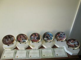 James Bond 007 Collectable Franklin Mint Collectors Plates Set 6 Limited Edition