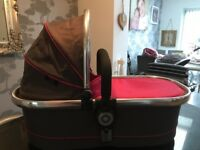 Icandy peach 2 pram raspberry and grey