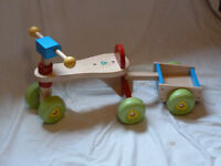 Childrens mini- trike and trailer . By Early Learning Centre
