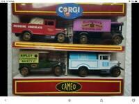Corgi cameo 4 piece collection co op /Cadbury dairy milk chocolate/ripley cooperative society