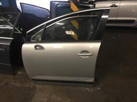 2012 Peugeot 3008 front passenger door in silver colour