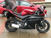 YAMAHA YZFR 125cc red 2014 excellent condition