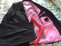 Men's grey business Suit 42L W 34 L33