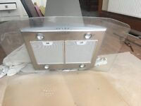 Electrolux cooker hood unused stainless steel & glass.