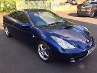 toyota celica 1.8 vvti 2001 x reg dark blue uk car 1 owner from new FSH - 6 speed - genuine car look