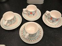 Espresso cups & saucers (set of 4) for sale!