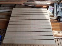 Slatwall in maple colour 1200mm x 1200mm - 6 sheets