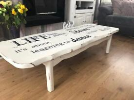 shabby chic, solid pine coffee table