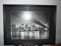 Manhattan Skyline and Brooklyn Bridge.
