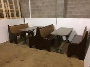 Restaurant Tables and Booths -- full package available