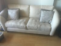 Dfs cream 4 seater sofa (nearly new RRP £1399)