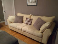 Collins and Hayes Davina Large 3-4 Seater Yellow Sofa