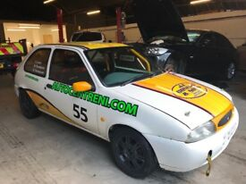 Fiesta race car ready to win literally