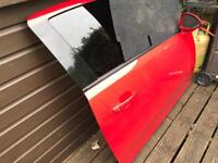 Corsa d vxr driver door. Flame red and tailgate