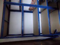 Blue Racking Shelves X 3