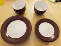Dinner set plates and bowls