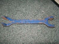 Bahco Record crowfoot tap wrench - double-ended - imperial - spanner