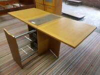 Dining Table - Quality Space Saver Drop Table with Drawer. £75