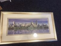 Glasgow framed photography print - silver frame