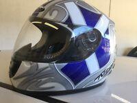 Nitro Motorbike Helmet Braveheart and new Bike gloves