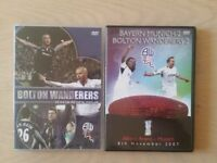 BOLTON WANDERERS DVDS X 2 - SEASON REVIEW 05/06 & UEFA CUP V BAYERN MUNICH 07/11/2007