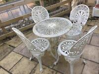 Wrought Iron 5 piece garden set.