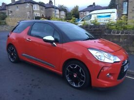 2014 CITROEN DS3 1.6 E-HDI AIRDREAM DSPORT PLUS + DIESEL + FULL LEATHER + CRUISE + 1 YEAR MOT + 17""