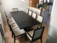 Dining room table chair set Ulferts and Dyrlund