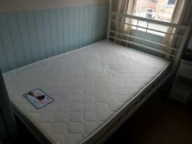 4ft double bed frame and mattress for sale