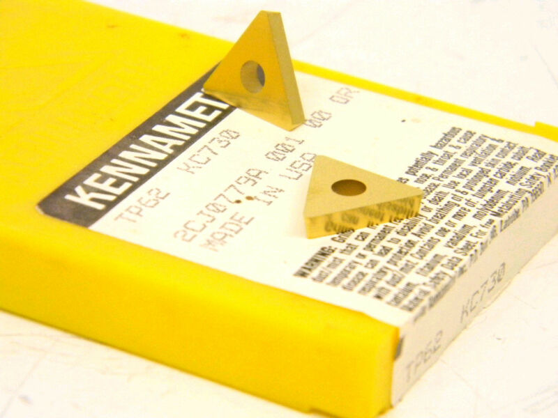 NEW SURPLUS 10PCS. KENNAMETAL   TP62  GRADE: KC730  CARBIDE INSERTS