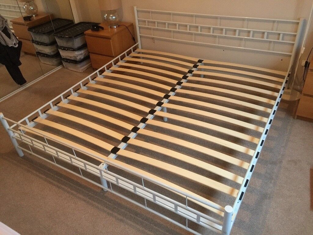 Modern Metal Bed Frame Super King Size White In Burnham On Crouch