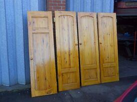 4 wooden wardrobe doors